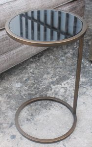 105A, Metal Glass Cocktail Table