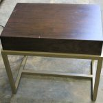 108, Brown & Metal Night Tables