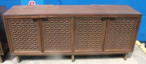 108D, 4 Door Credenza Dresser