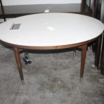 110, 5' Oval Corian Top Desk