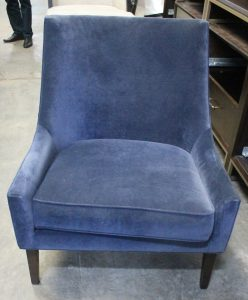 101, Blue Upholstered Arm Chair