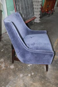 101A, Blue Upholstered Chair