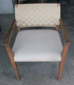 104B, Padded Wood Arm Chairs